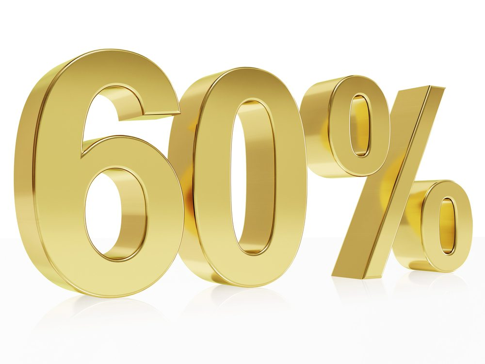 Save at least 60%