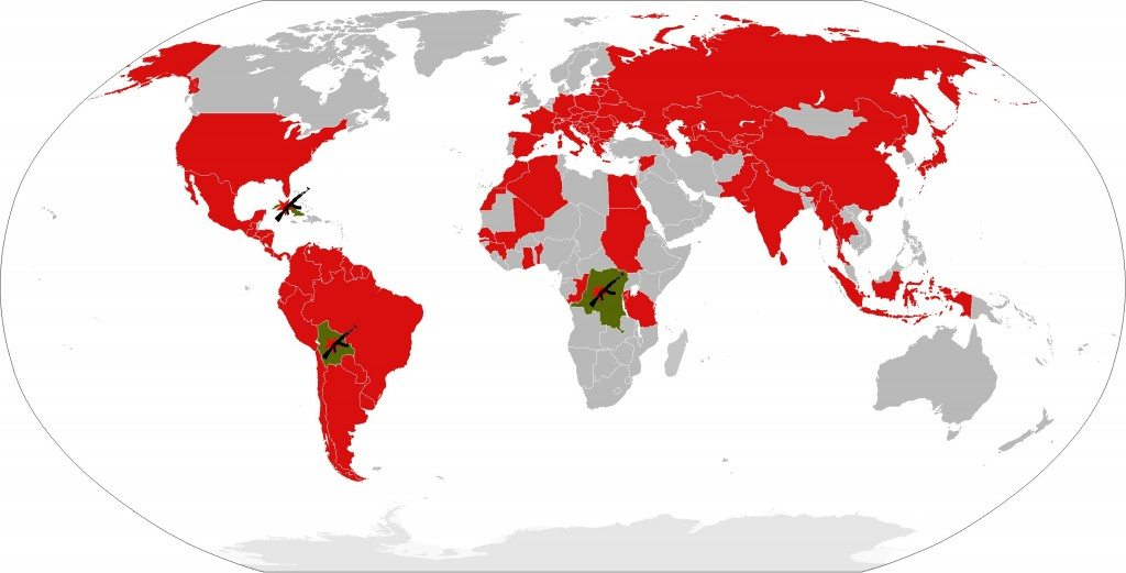 Countries Visited by Famous Revolutionary Che Guevara