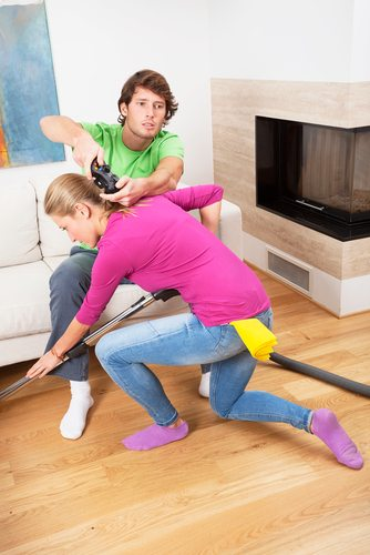 Your house-boyfriend is too busy playing xbox to help with chores.  Don't be unreasonable.